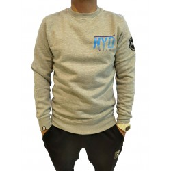 Sudadera Three Color Parts NYD WEAR Grey